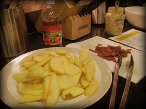 apples and bacon