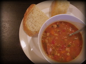 Navy Bean, Ham, Vegetable Soup