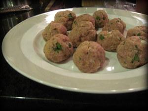 Mmmm...raw meatballs