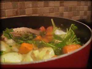 chicken stock at home