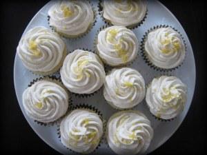 lemon almond vanilla cupcakes